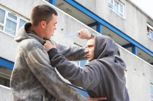 Man committing assault