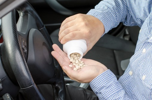 Driving with prescription pills