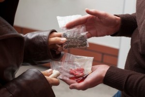 Man selling drugs