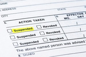 Form suspending license