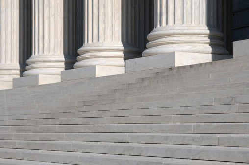 Steps of federal courthouse
