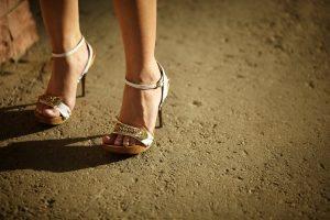 Prostitute in high heels