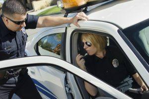 Police officers on radio